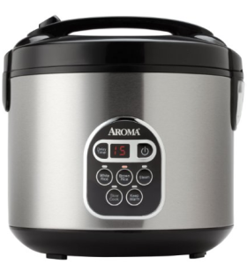 Aroma 20-Cup (Cooked) Digital Rice Cooker and Food Steamer