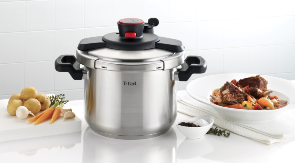T-fal P45007 Clipso Stainless Steel Pressure Cooker, 6.3-Quart