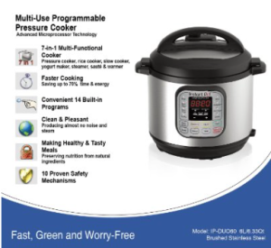 Instant Pot IP-DUO60 pressure cooker - details