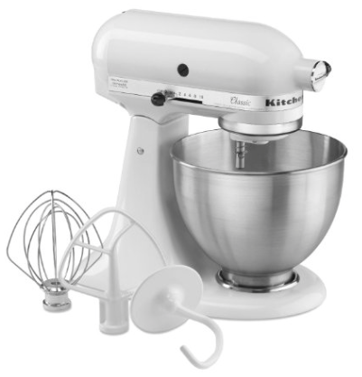KitchenAid K45SSWH K45SS Classic 275-Watt 4-1:2-Quart Stand Mixer