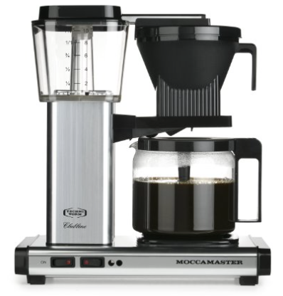 Technivorm-Moccamaster KBG 741 10-Cup Coffee Brewer with Glass Carafe Metalllic