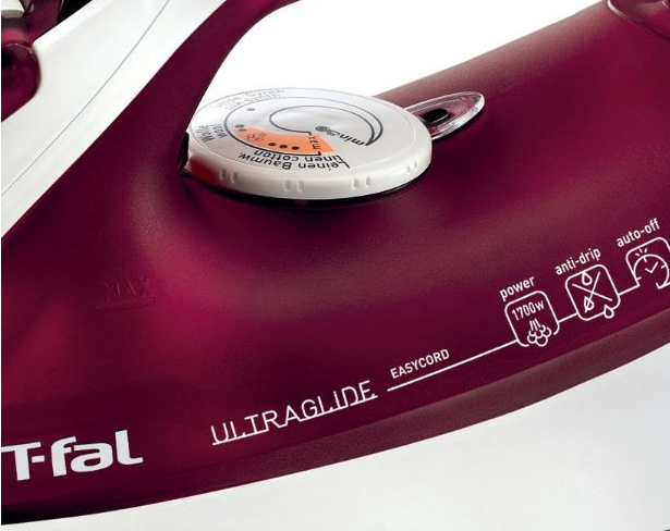 T-Fal FV4379003 Ultraglide Easycord Iron with Scratch Resistant Nonstick Soleplate & Anti-Scale System - details